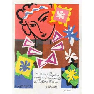 "1989 Matisse Original Vintage ""Bal Arts Decoratifs Mourlot"" Lithograph Print 1951"