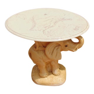 Ceramic Elephant Side Table