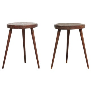 Pair of French Stools after Pierre Jeanneret