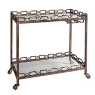 Metal Glam Bar Cart