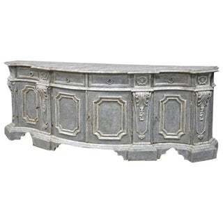 Large Painted Italian Baroque Style Credenza