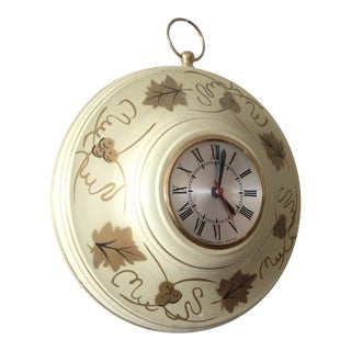 Country Style Tole Wall Clock
