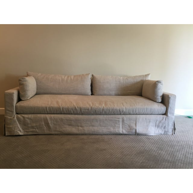 Restoration Hardware Belgian Linen Sofa - Image 2 of 4