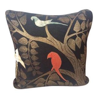 Vintage Silk 1920's Deco Textile Pillow