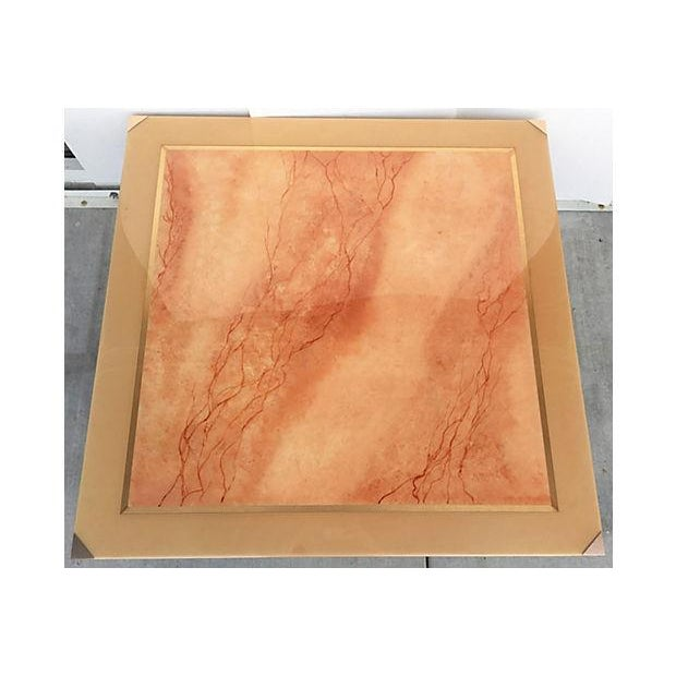 Faux Marble Square Coffee Table - Image 4 of 7