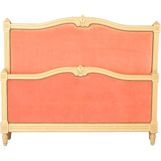 1920s French Louis XVI Cream Wood Full-Sized Bed