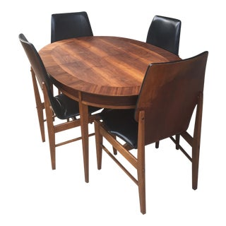 Mid-Century Dining Table and Chairs - Set of 5