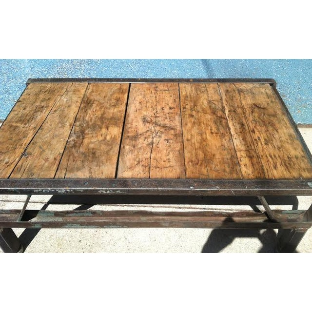 Industrial Detroit Factory Cart Coffee Table - Image 3 of 5