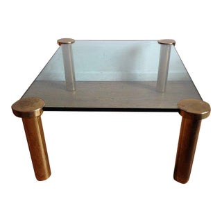 Karl Spinger Style Brass & Glass Coffee Table