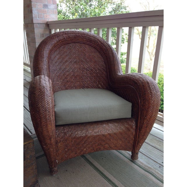 Image Of Pottery Barn Quot Malabar Quot Wicker Chairs Set Of 4