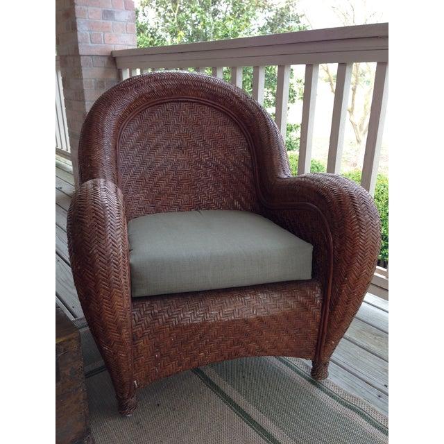 Image Pottery Barn Malabar Wicker Chairs Set