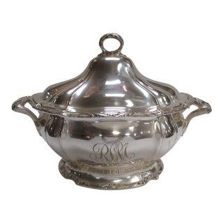 Silver Monogrammed Serving Bowl Tureen
