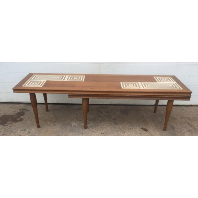 Mid Century Tile Top L Shaped Coffee Table Chairish