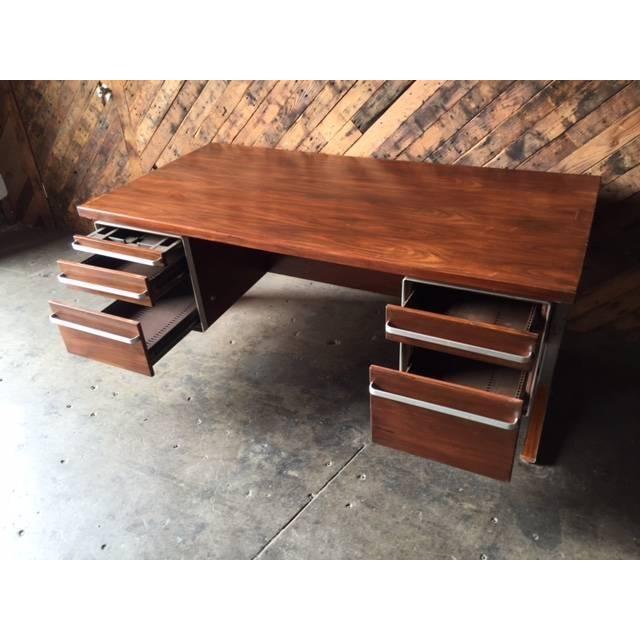 Vintage Cantilevered Executive Desk - Image 3 of 11