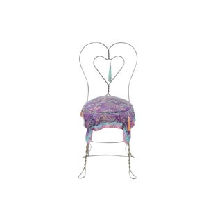 Chinoiserie Style Heart Ice Cream Accent Chair