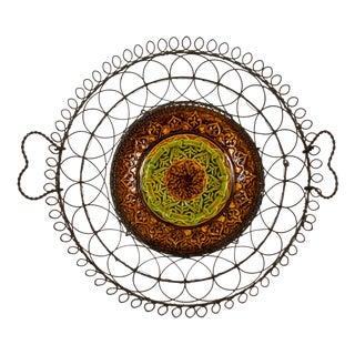 Villeroy & Boch Majolica & Heart Handled Wire Basket