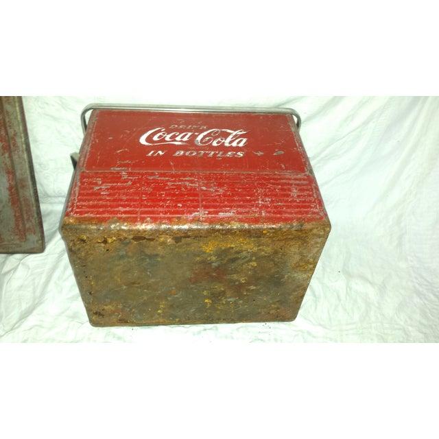 1955 Original Coca Cola Cooler Drink Server - Image 8 of 9