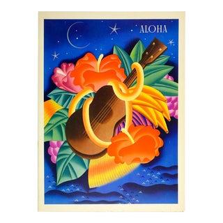 1941 Hawaiian Graphic Menu