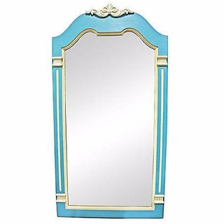 Blue & Gray Painted French Style Mirror