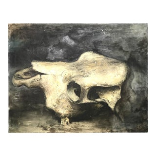Skull Still Life Oil on Canvas by Robert Chewy