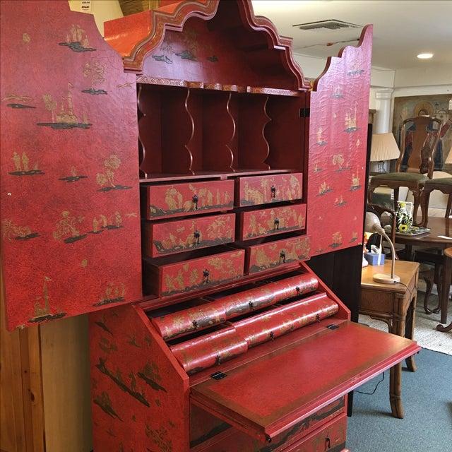 Baker Red Chinoiserie Desk - Image 4 of 11