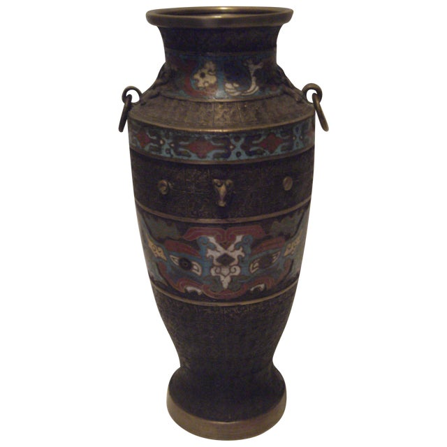 Large Antique Champleve Urn - Image 1 of 11