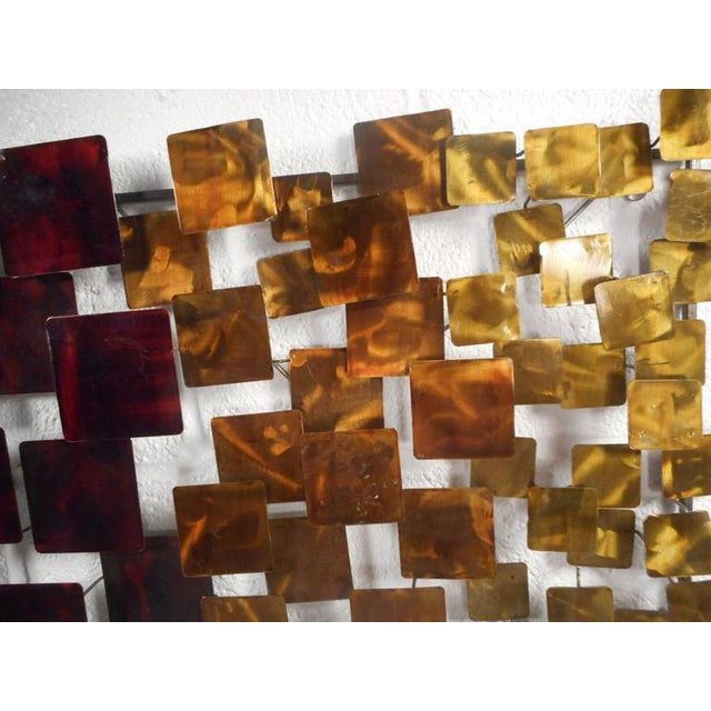 Contemporary Modern Curtis Jere Style Metal Wall Art - A Pair - Image 3 of 6
