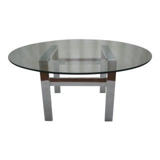 Milo Baughman Chrome & Glass Coffee Table
