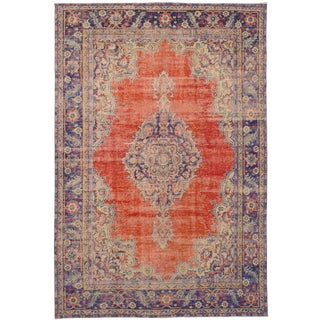 "Anadol Vintage Turkish Rug, 7'3"" x 10'11"""