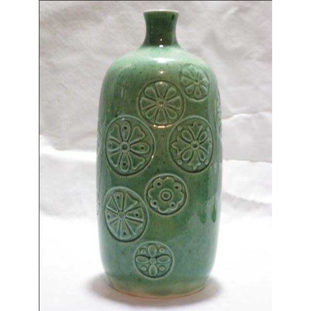 Vintage Keramikos Green Porcelain Vase - Image 3 of 9