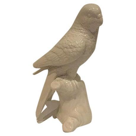 White Porcelain Parrot Figurine - Image 1 of 4