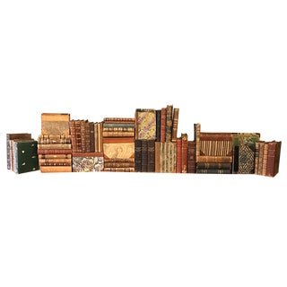 Decorative Designer Leather Books - Set of 75