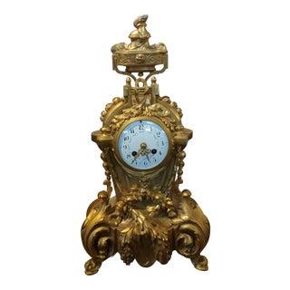 19th century French Empire Clock - Beautiful Gilt Bronze - c1860s
