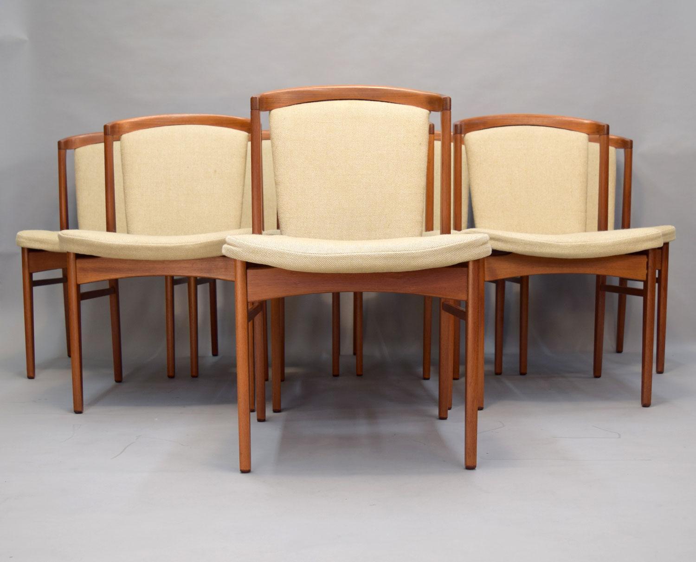 Erik Buck Rare Design Danish Teak Dining Chairs Set Of 8