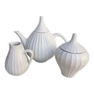 Jonathan Adler Pot Au Porter Line White Tea Set - S/3