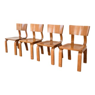 Mid-Century Thonet Bent Plywood Child Chairs - Set of 4