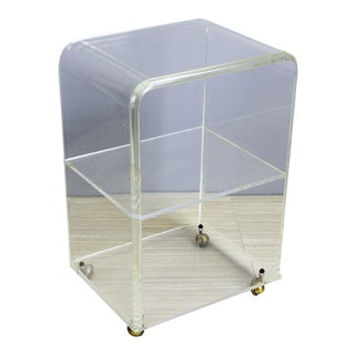 1970's Lucite Waterfall Bar Cart