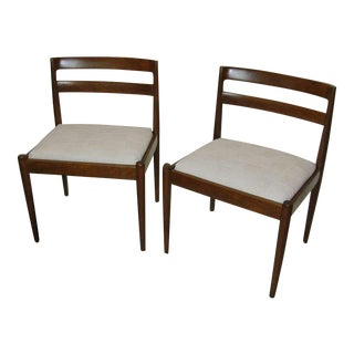 1950 Kai Kristiansen Teak Pair of Chairs For Magnus Olesen