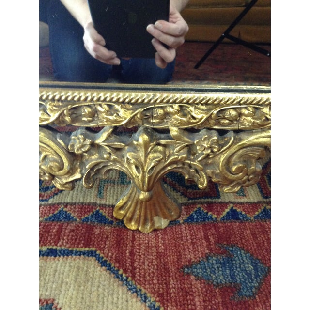 Antique Gilded Ornate Wall Mirror - Image 8 of 9