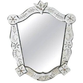 Mid-Century Medium Size Italian Venetian Wall Mirror