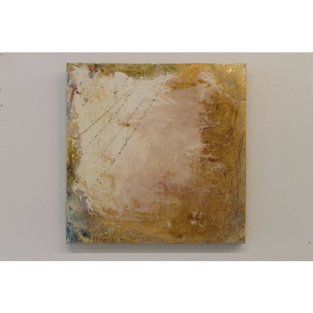 Image of Mixed Media 'Golden Skies' Painting