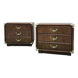 Drexel Heritage Accolade Bedside Tables - A Pair