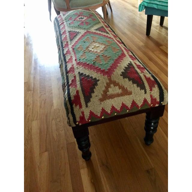 Boho Tribal Kilim Bench Chairish