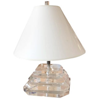Mid Century Sculptural Lucite Table Lamp