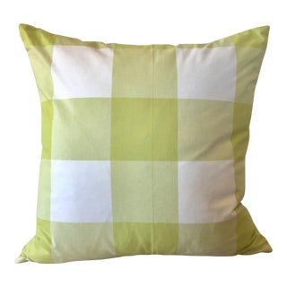Chartreuse Green Gingham Check Pillow