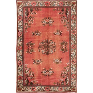 "Vintage Turkish Melis Rug - 5'7"" x 8'9"""
