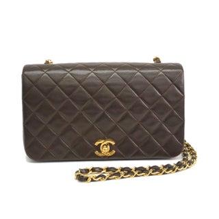 Chanel Full Flap Lamb Skin Shoulder Bag