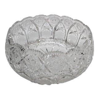 Lead Cut Crystal Bowl