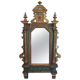 Venetian Antique Hand Painted Mirror