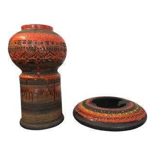Raymor for Bitossi Ashtray and Vase